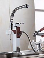 Недорогие -кухонный смеситель - Одной ручкой одно отверстие Электропокрытие Стандартный Носик Обычные Kitchen Taps