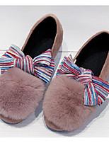 Недорогие -Девочки Обувь Искусственный мех Наступила зима Удобная обувь Мокасины и Свитер для Для подростков Лиловый / Розовый / Хаки