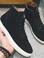 Недорогие -Муж. Комфортная обувь Полиуретан Весна & осень Кеды Черный / Серый / Хаки