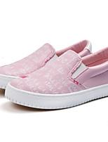 Недорогие -Девочки Обувь Полотно / Микроволокно Осень Удобная обувь Мокасины и Свитер для Дети / Для подростков Синий / Розовый