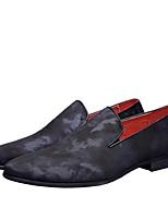 Недорогие -Муж. Комфортная обувь Деним Весна Мокасины и Свитер Красный / Синий
