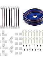 Недорогие -5050 5630 3014 Комплект 4-контактных светодиодных лент - 10-миллиметровый комплект светодиодных разъемов RGB включает в себя 5-метровый удлинительный кабель RGB.