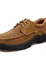 Недорогие -Муж. Комфортная обувь Кожа Весна & осень На каждый день Туфли на шнуровке Кофейный / Коричневый