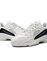 Недорогие -Муж. Комфортная обувь Синтетика Осень Кеды Белый / Черный / Красный