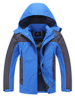 cheap -Men's Hiking Jacket Hiking Windbreaker Outdoor Thermal / Warm Waterproof Windproof Breathable Top Camping / Hiking Hunting Fishing Black / Red / Army Green / Blue / Orange / Quick Dry / Quick Dry