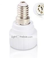 Недорогие -e14 to gu10 Преобразователи патрона в лампу Преобразователи цоколя лампы Светодиодные лампочки Адаптер конвертера Светодиодные фонари Аксессуары