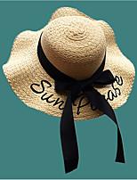 Недорогие -Жен. Классический Соломенная шляпа Однотонный