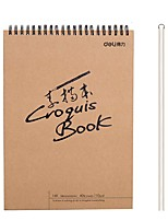 Недорогие -1 пак deli 73601-S Sketchbook 40 простыни 16K