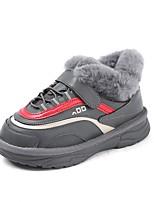 Недорогие -Девочки Обувь Искусственная кожа Зима Удобная обувь Спортивная обувь Беговая обувь для Дети / Для подростков Черный / Бежевый / Серый