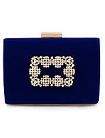 Недорогие -Жен. Мешки Полиэстер / Сплав Вечерняя сумочка Кристаллы Геометрический рисунок Синий / Черный