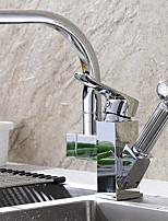 Недорогие -кухонный смеситель - Две ручки одно отверстие Электропокрытие Стандартный Носик Свободно стоящий Обычные Kitchen Taps