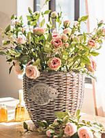 Недорогие -Искусственные Цветы 3 Филиал Классический Стиль Пастораль Стиль Розы Букеты на стол