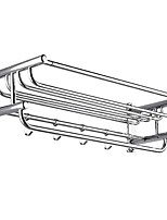Недорогие -Полка для ванной Новый дизайн / Cool Modern Нержавеющая сталь 1шт Двуспальный комплект (Ш 200 x Д 200 см) На стену