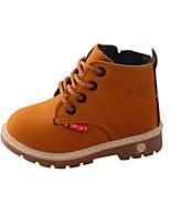 Недорогие -Мальчики / Девочки Обувь Искусственная кожа Наступила зима Удобная обувь / Армейские ботинки Ботинки для Дети Черный / Желтый / Винный