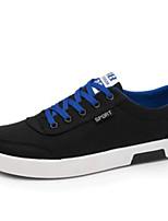 Недорогие -Муж. Комфортная обувь Полотно Весна & осень Кеды Белый / Черный / Синий