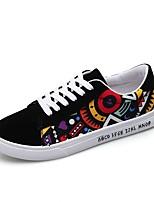 Недорогие -Муж. Комфортная обувь Полотно Весна Кеды Черный / Синий / Черный / Красный