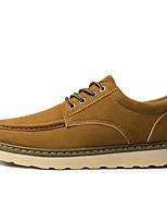 Недорогие -Муж. Комфортная обувь Замша Весна Кеды Черный / Бежевый / Коричневый