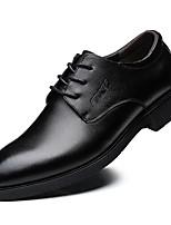Недорогие -Муж. Комфортная обувь Кожа Весна & осень Туфли на шнуровке Черный