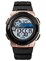 Недорогие -SKMEI Муж. Спортивные часы Армейские часы электронные часы Цифровой силиконовый Черный / Зеленый 50 m Будильник Календарь Секундомер Цифровой На каждый день Мода - Зеленый Синий Розовое золото