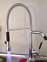 Недорогие -кухонный смеситель - Одной ручкой одно отверстие Высокий / High Arc Другое Современный Kitchen Taps