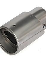 Недорогие -нержавеющая сталь хромированный круглый наконечник выхлопной трубы глушителя для универсальных автомобилей