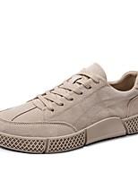 Недорогие -Муж. Комфортная обувь Микроволокно Весна Кеды Белый / Черный / Миндальный