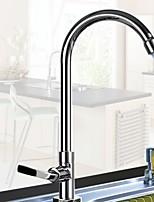 Недорогие -кухонный смеситель - Одной ручкой одно отверстие Выдвижная / Выпадающий Современный Kitchen Taps