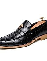 Недорогие -Муж. Комфортная обувь Микроволокно Весна & осень Туфли на шнуровке Черный / Коричневый
