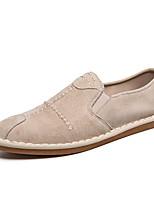 Недорогие -Муж. Комфортная обувь Свиная кожа Осень Мокасины и Свитер Черный / Бежевый / Серый