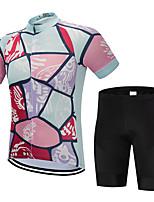 Недорогие -FirtySnow Муж. С короткими рукавами Велокофты и велошорты - Розовый Велоспорт Наборы одежды Дышащий Быстровысыхающий Виды спорта Полиэстер Графика Горные велосипеды Шоссейные велосипеды Одежда