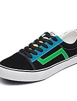 Недорогие -Муж. Комфортная обувь Полотно Весна Кеды Черно-белый / Черный / зеленый