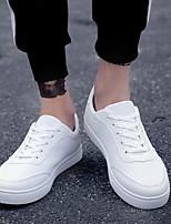 Недорогие -Муж. Комфортная обувь Полиуретан Весна Кеды Белый / Черно-белый / Красный