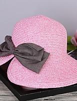 Недорогие -Жен. Соломенная шляпа - Бант Однотонный