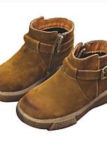 Недорогие -Девочки Обувь Замша Зима Удобная обувь / Армейские ботинки Ботинки для Дети Черный / Зеленый / Верблюжий
