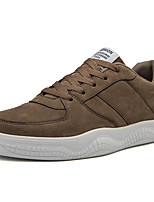 Недорогие -Муж. Комфортная обувь Полиуретан Наступила зима На каждый день Кеды Черный / Бежевый / Коричневый