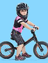 Недорогие -SANTIC Девочки С короткими рукавами Велокофты и лосины - Черный Мультипликация Велоспорт Наборы одежды Дышащий Быстровысыхающий Виды спорта Полиэстер силикон Мультипликация / Эластичная