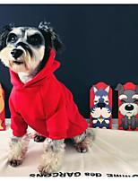 Недорогие -Собаки Коты Плащи Одежда для собак Буквы и цифры Золотой Красный Хлопок Костюм Назначение Зима Универсальные Новый год