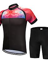 Недорогие -FirtySnow Муж. С короткими рукавами Велокофты и велошорты - Розовый Велоспорт Наборы одежды Дышащий Быстровысыхающий Виды спорта Полиэстер Однотонный Горные велосипеды Шоссейные велосипеды Одежда