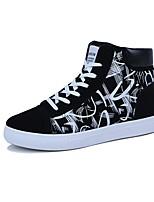 Недорогие -Муж. Комфортная обувь Полотно Весна & осень Кеды Черно-белый / Черный / Красный / Черный / синий