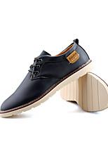 Недорогие -Муж. Официальная обувь Полиуретан Осень Туфли на шнуровке Черный / Коричневый / Синий