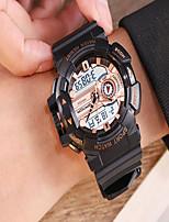Недорогие -Муж. Спортивные часы электронные часы Кварцевый Черный / Белый / Красный Защита от влаги Календарь Секундомер Аналого-цифровые На каждый день Мода - Красный Черный / Белый Черный / Розовое золото