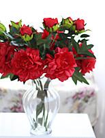 Недорогие -Искусственные Цветы 3 Филиал Классический Свадьба европейский Пионы Букеты на стол