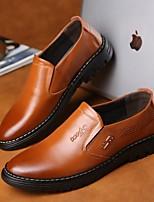 Недорогие -Муж. Комфортная обувь Кожа Весна лето Мокасины и Свитер Черный / Желтый / Коричневый