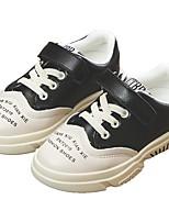 Недорогие -Девочки Обувь Искусственная кожа Весна Удобная обувь Спортивная обувь Для прогулок для Дети / Для подростков Черный / Бежевый