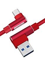 Недорогие -USB тип c 90 градусов быстрая зарядка USB c кабель типа c кабель для передачи данных зарядное устройство usb-c для samsung s8 s9 s10 plus note 9 8 Xiaomi mi 8