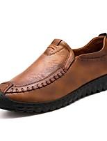 Недорогие -Муж. Комфортная обувь Искусственная кожа Весна & осень Мокасины и Свитер Черный / Коричневый / Темно-коричневый