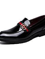 Недорогие -Муж. Комфортная обувь Лакированная кожа Весна & осень Мокасины и Свитер Черный