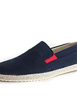 Недорогие -Муж. Комфортная обувь Лён Весна Мокасины и Свитер Черный / Синий / Светло-синий