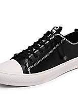 Недорогие -Муж. Комфортная обувь Микроволокно Весна Кеды Белый / Черный / Черно-белый