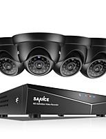 Недорогие -Sannce® 8-канальный 4шт 720p HD видеокамера 1080n 5-дюймовый видеорегистратор DVR система ночного видения и легкий мобильный мониторинг